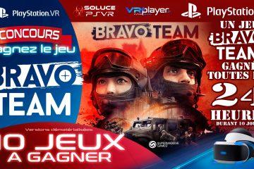 PlayStation VR, Bravo Team Concours : Gagnez 1 jeu par jour durant 10 jours !