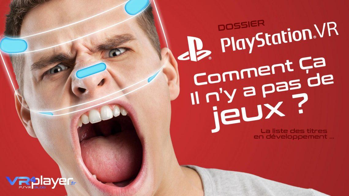 Les futurs jeux du catalogue PlayStation VR