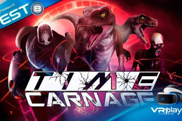 PlayStation VR : Time Carnage, un wave shooter spatio-temporel sur psvr en Test