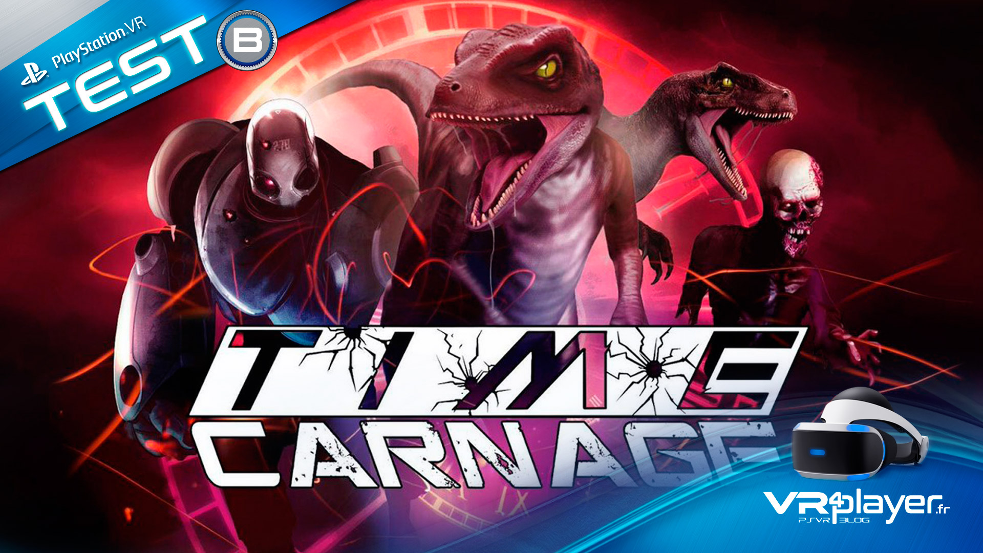 Time Carnage PlayStation VR test Review VR4player.fr