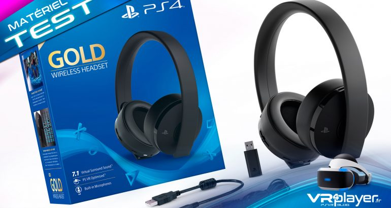 casque audio sony ps4 gold vr4player psvr ps4