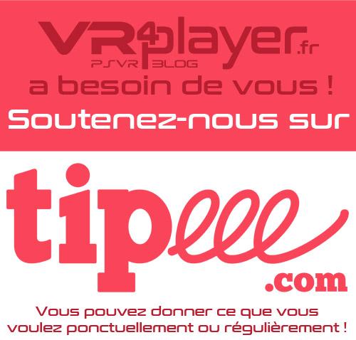 Soutenez VR4Player avec Tipeee
