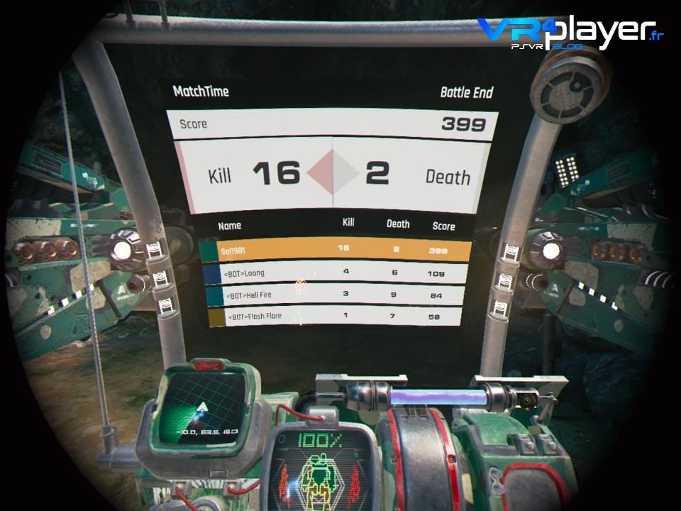 Code 51 : Mecha Arena Testé sur PSVR