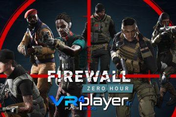 PlayStation VR : Firewall Zero Hour devient stable avec une mise à jour !