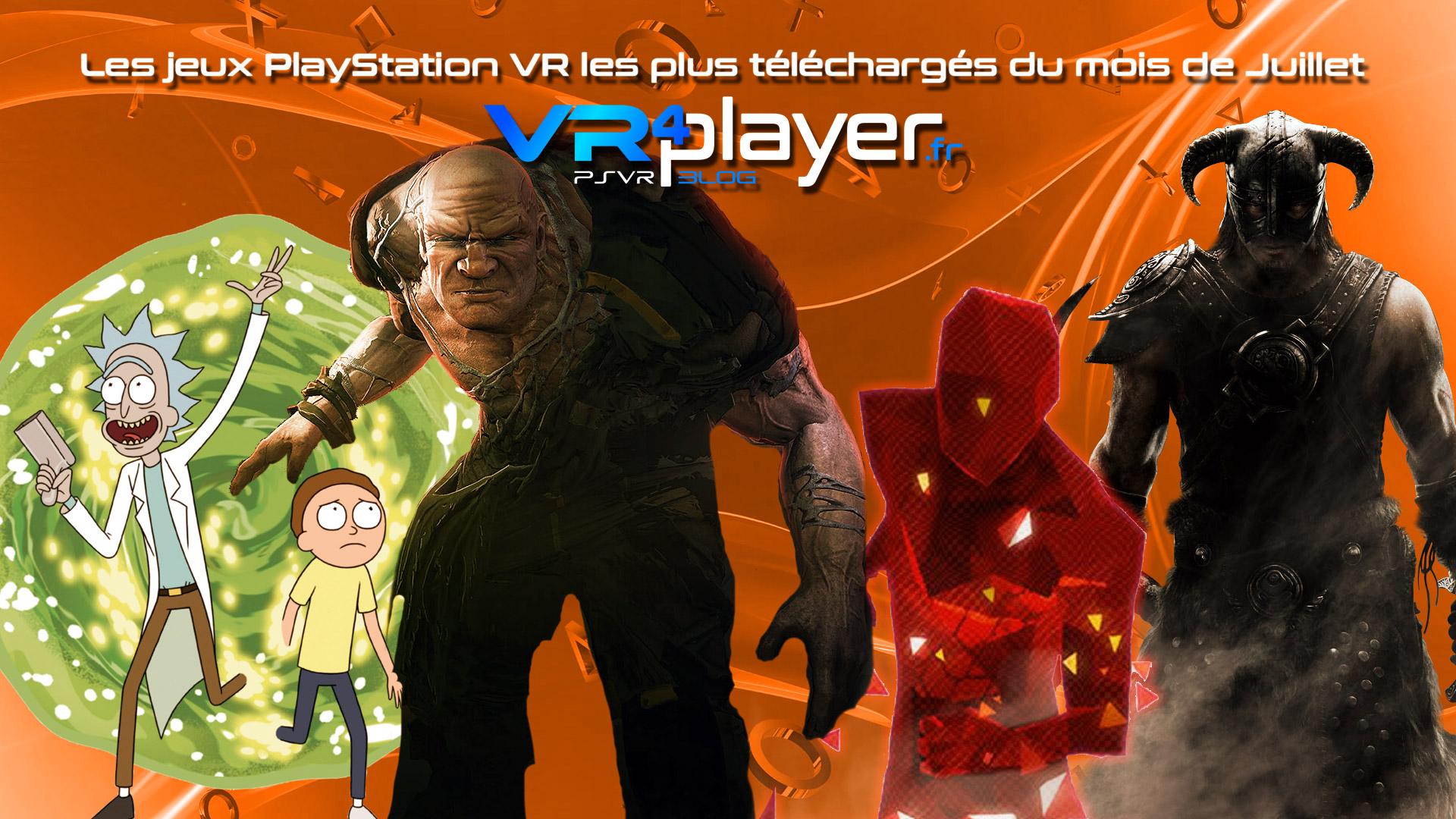le top des ventes PSVR de juillet vr4player.fr