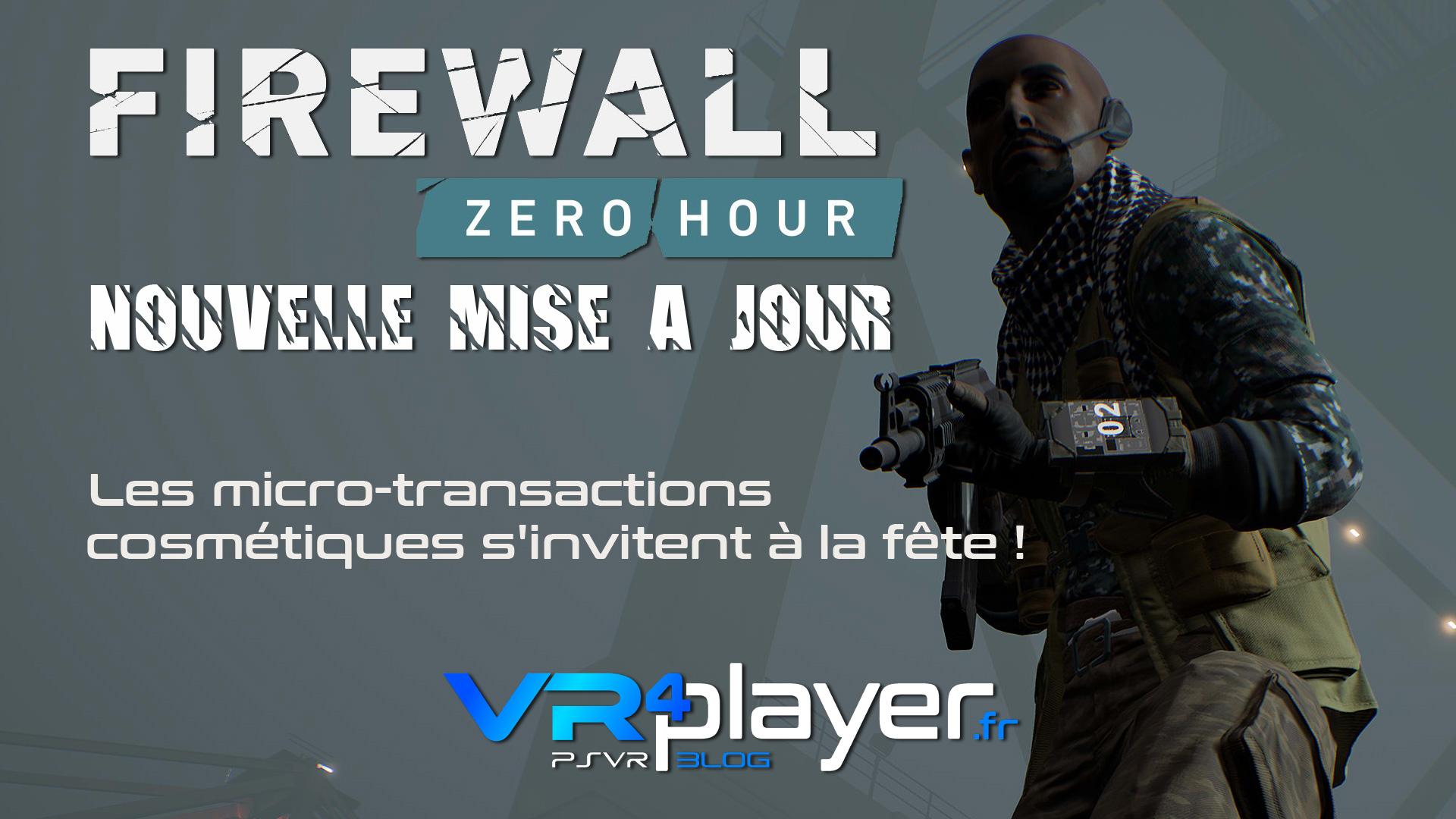 nouvelle mise à jour Firewall avec des micro-transactions sur PSVR vr4player.fr