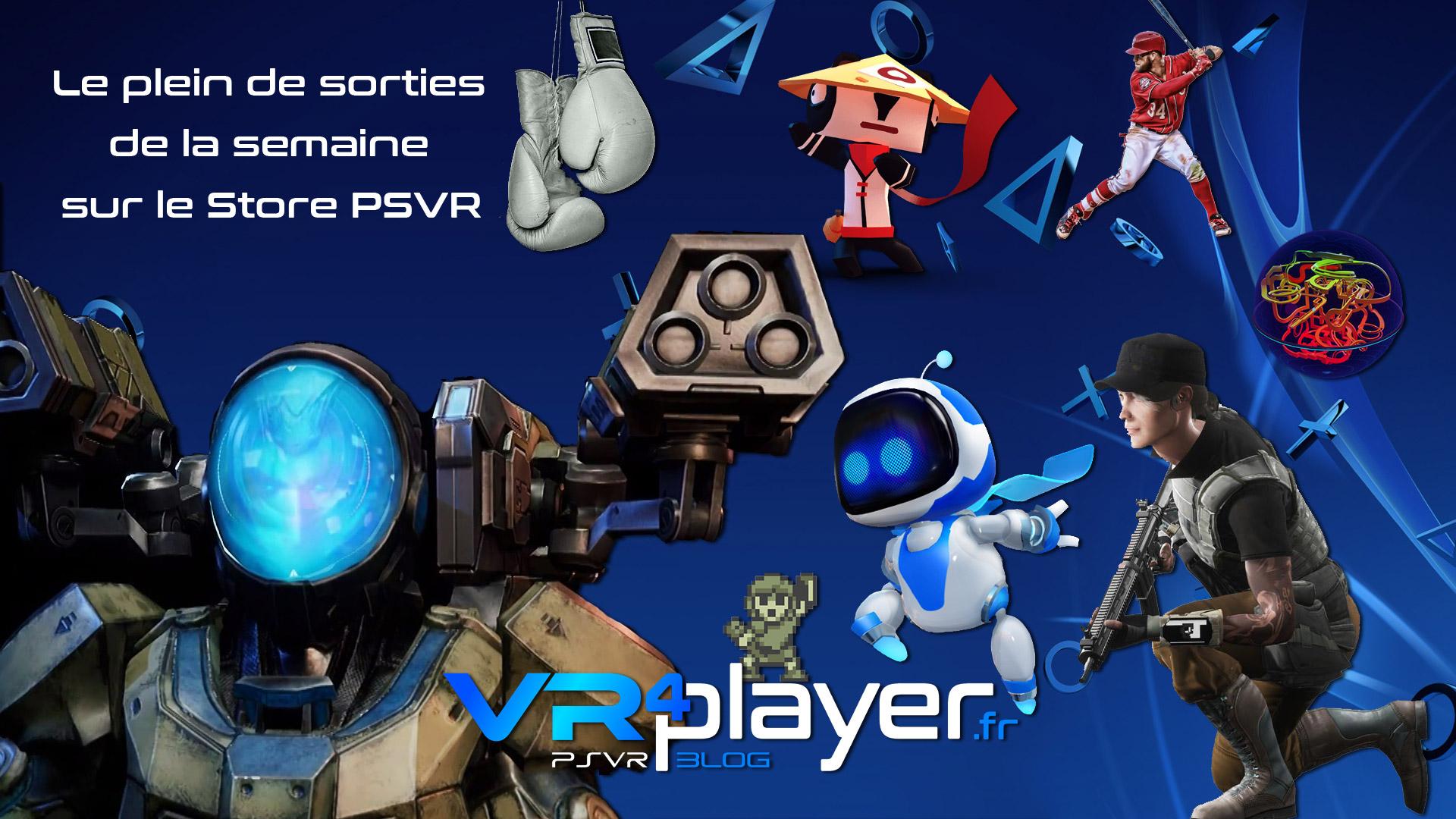 Le plein de sorties du Store PSVR de la semaine - vr4player.fr
