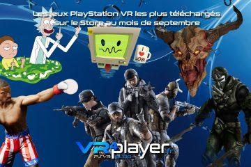 PlayStation VR : le top des ventes PSVR du mois de septembre