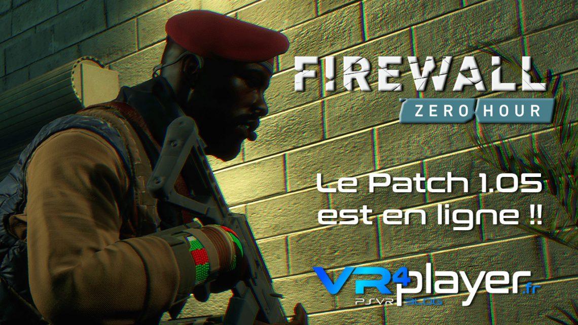 Le patch 1.05 de Firewall Zero Hour est déjà en ligne ! vr4player.fr