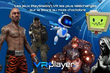 PlayStation VR : les jeux PSVR les plus vendus du Store en octobre