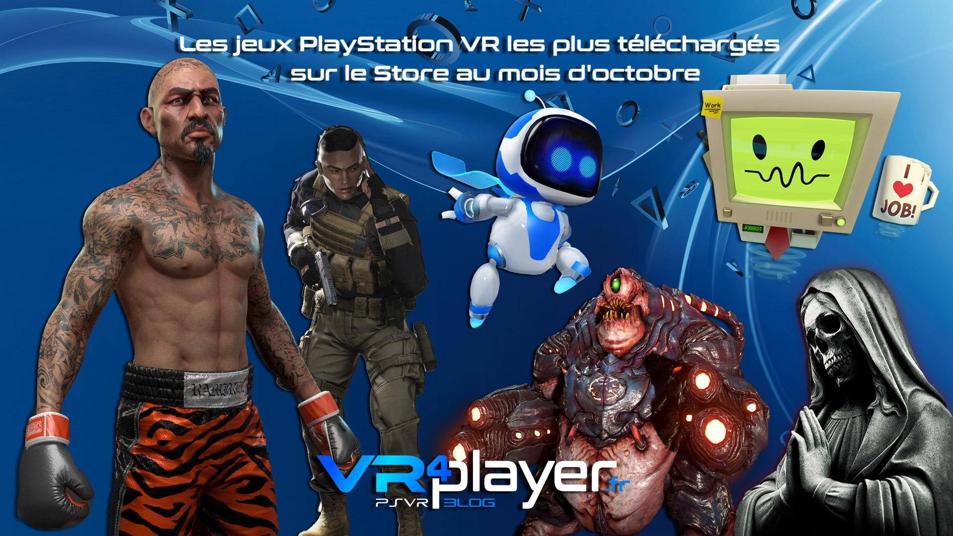 le top des jeux PSVR les plus vendus en octobre sur le Store - vr4player.fr