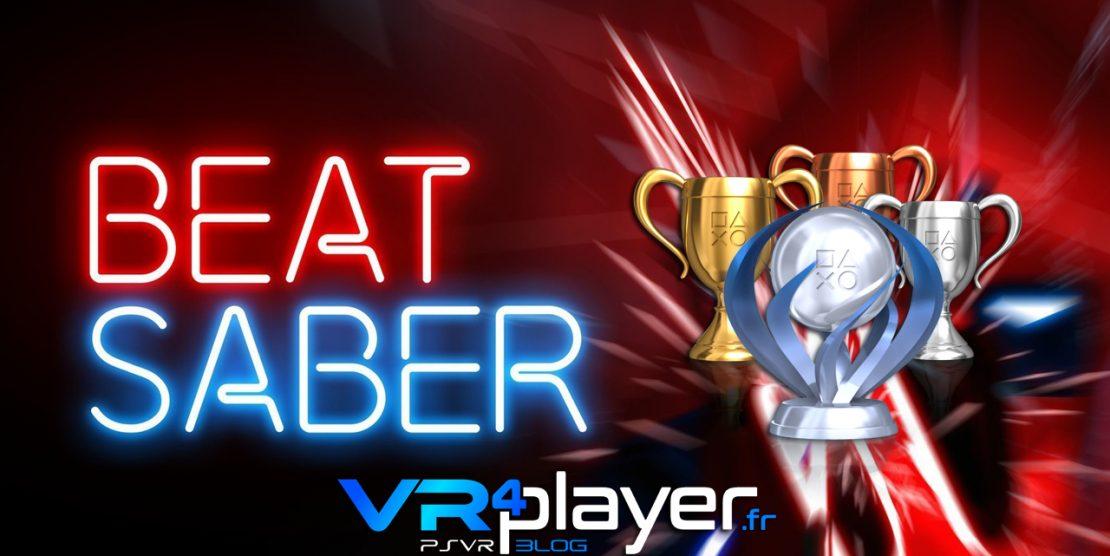 PlayStation VR : BEAT SABER, la liste de tous ses trophées sur PSVR