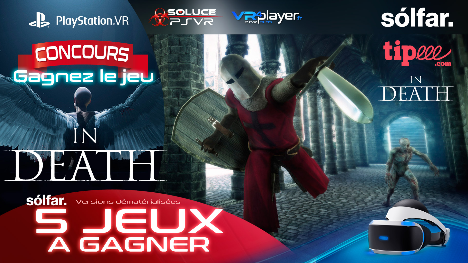 PlayStation VR : Concours In Death Solfar Studio, 5 jeux à gagner VR4Player