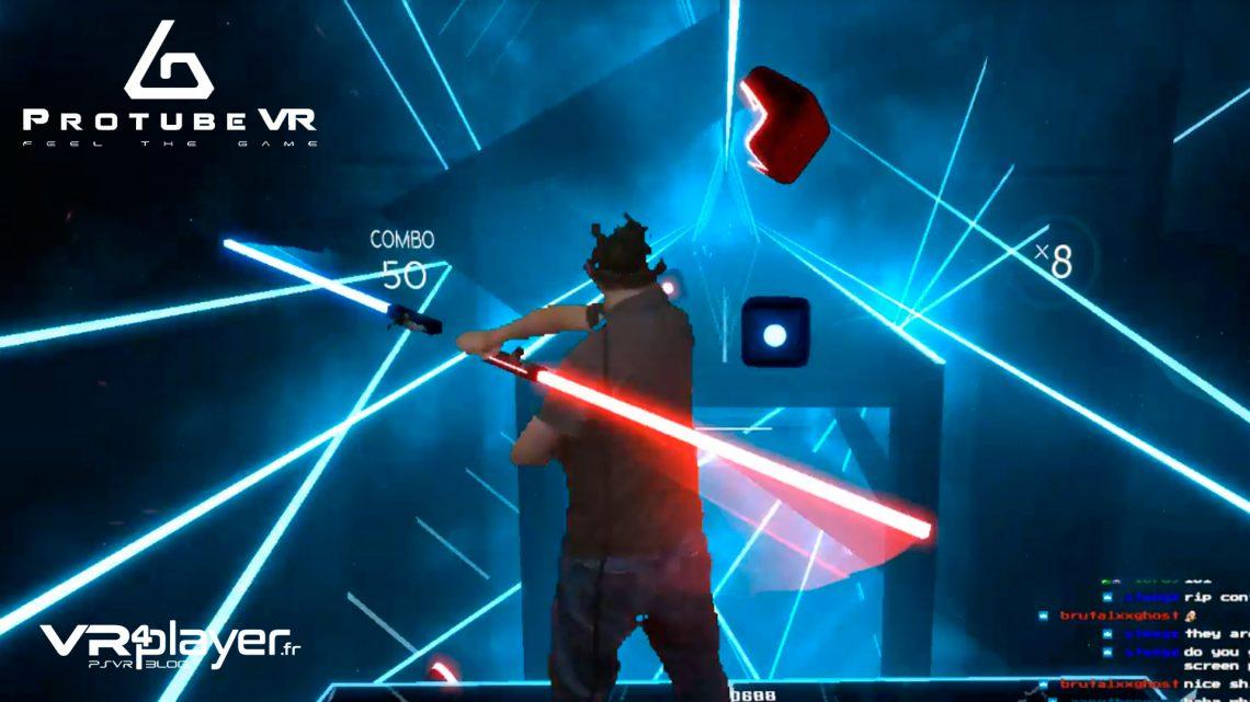 ProTube VR Accessoires PSVR PS Move PlayStation VR Double sabre Beat Saber VR4Player