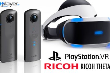 PlayStation VR : Sony ouvre sa PS4 à la caméra 360° Theta V de Ricoh !