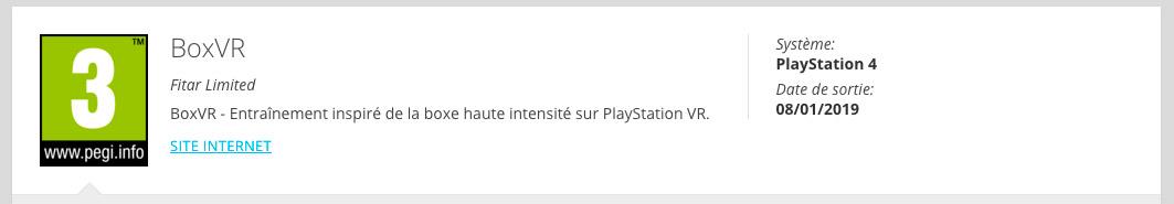 BoxVR PlayStation VR PSVR VR4Player