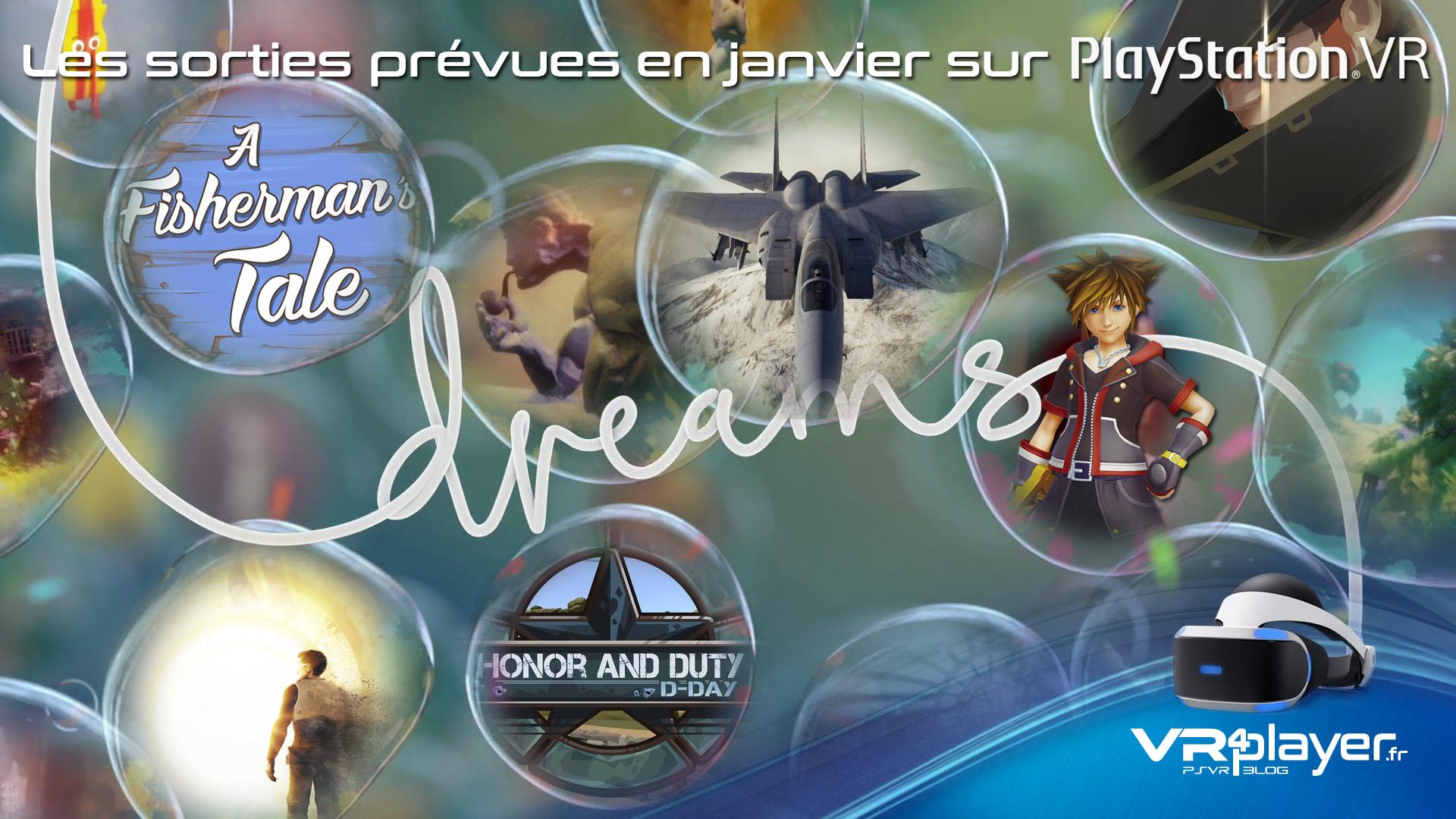 Les sorties prévues en janvier 2019 sur PSVR - vr4player.fr