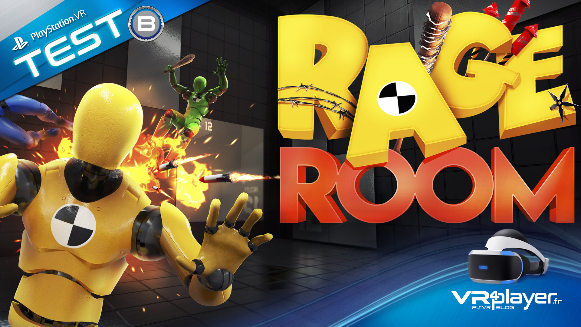 PlayStation VR PSVR Rage Room VR sur le banc d'essai