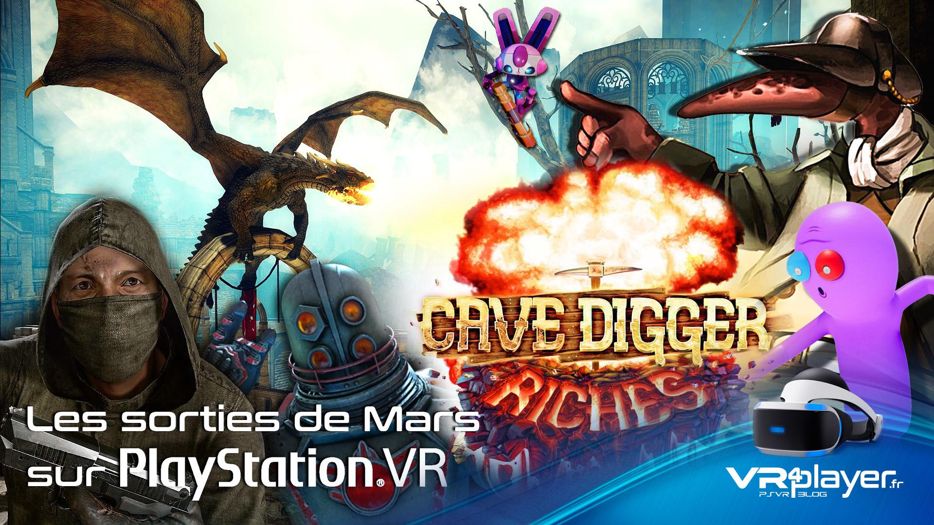 les sorties de jeux PSVR en mars - vr4player.fr