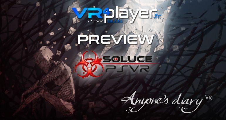 Anyone's Diary en preview par Soluce PSVR - vr4player.fr
