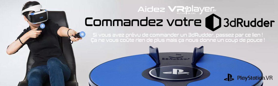 3dRudder Pré-commandes