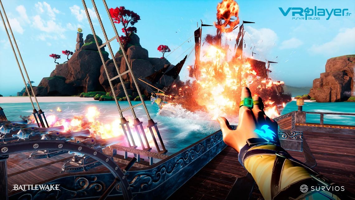 BattleWake Survios Pirates VR PlayStation VR PSVR VR4Player
