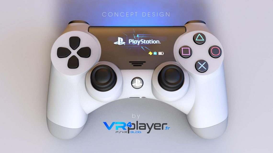DualShock 5 Haptique screen Concept VR4Player