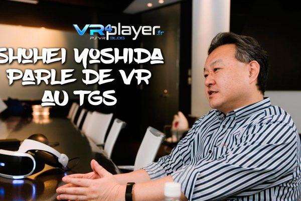 Shuhei Yoshida PSVR Iron Man VR TGS 2019 VR4Player