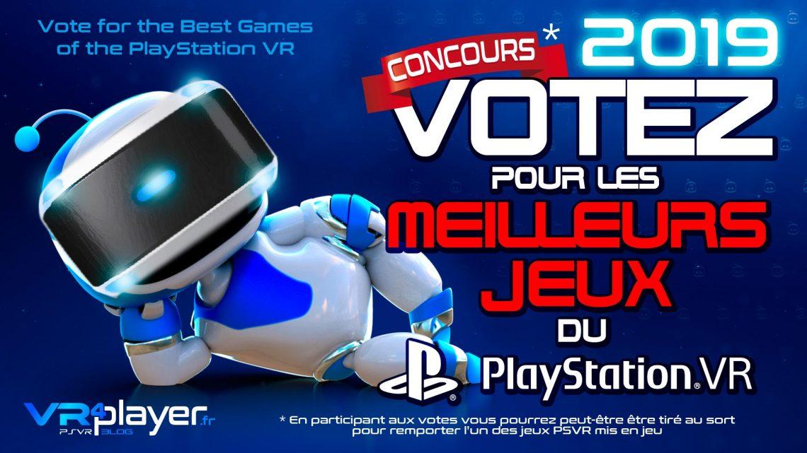 PlayStation VR PSVR : Votez pour les meilleurs jeux PlayStation VR 2019 VR4Player Concours