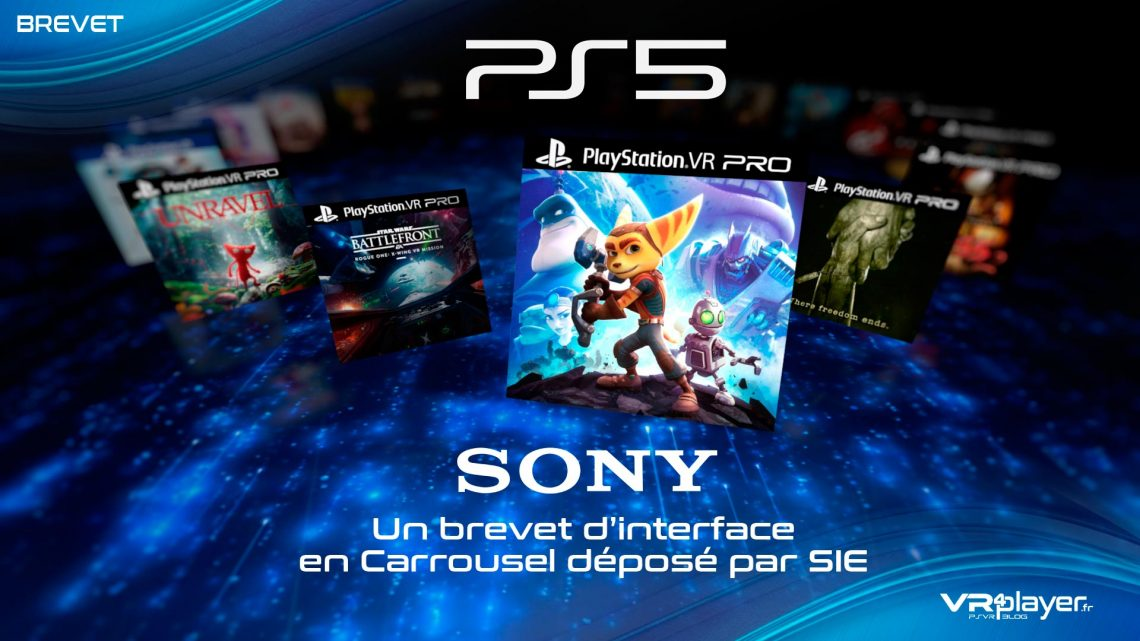 Sony PS5 PlayStation 5 Interface System Carousel VR4player