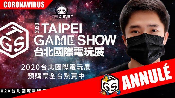 Coronavirus : Taipei Games Show annulé VR4Player