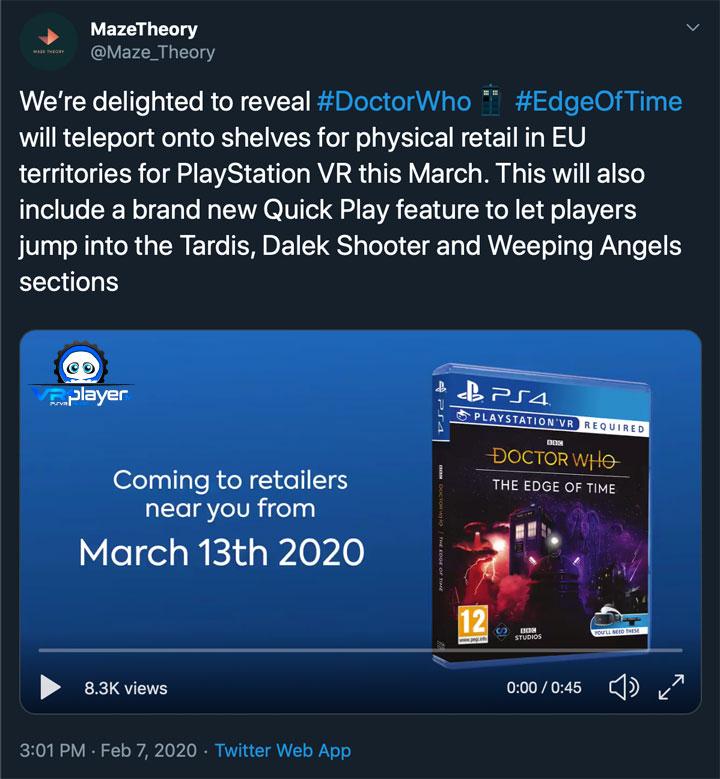 Doctor Who - PSVR - VR4player.fr