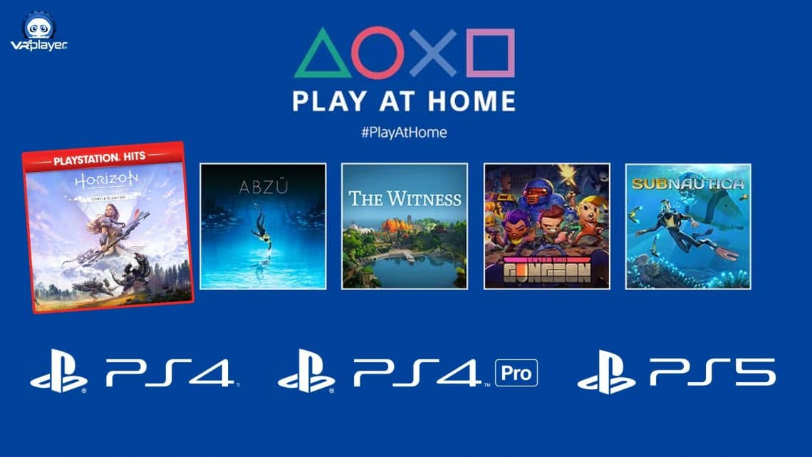 Play at Home jeux gratuits COVID-19 PSVR PlayStation VR PS4 PS5