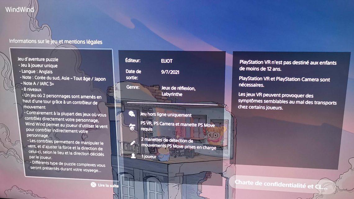 Wind Wind Eliot games PSVR PlayStation VR VR4Player