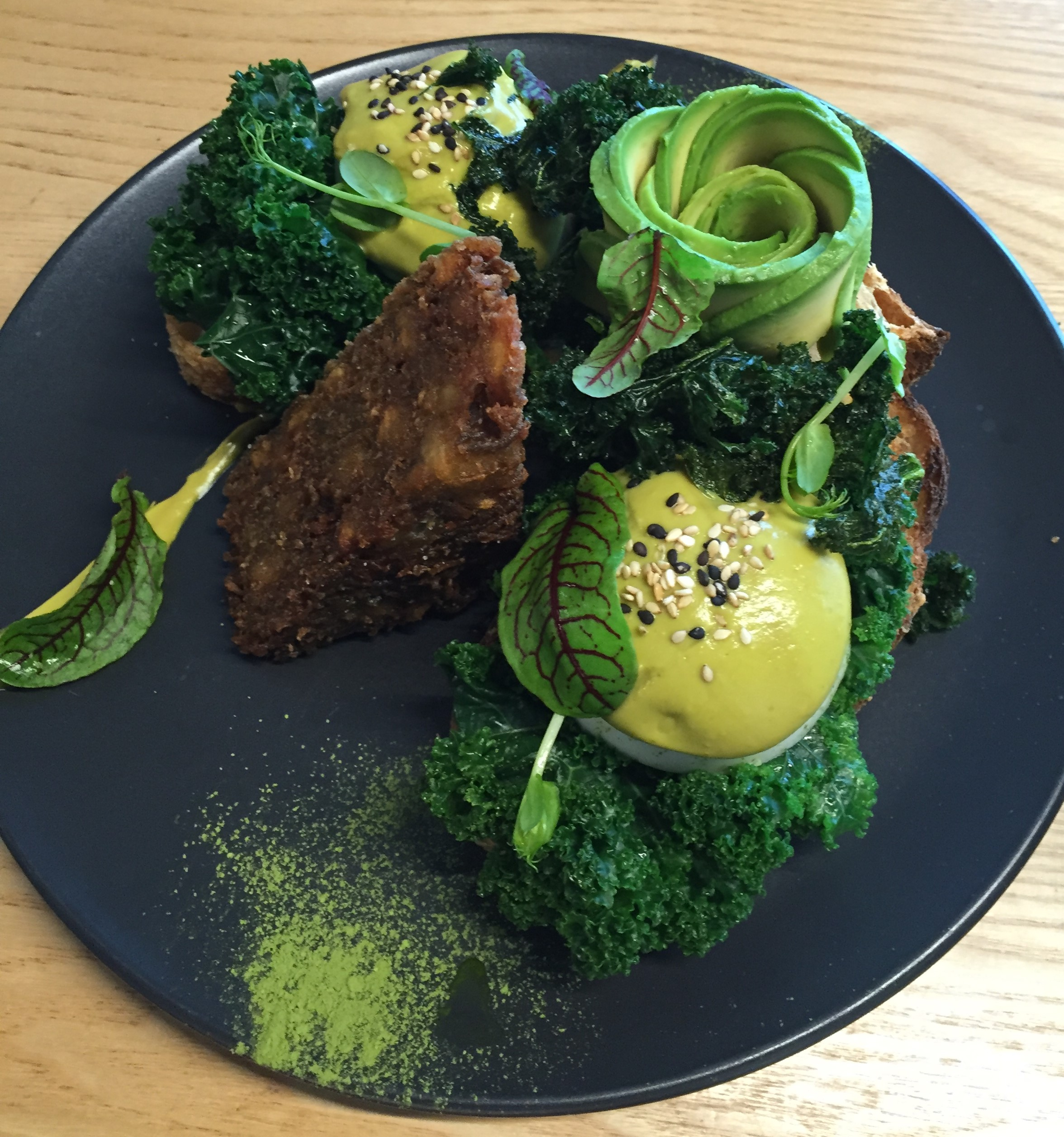 Wonderful green vegan lunch at Matcha Mylkbar, Melbourne.