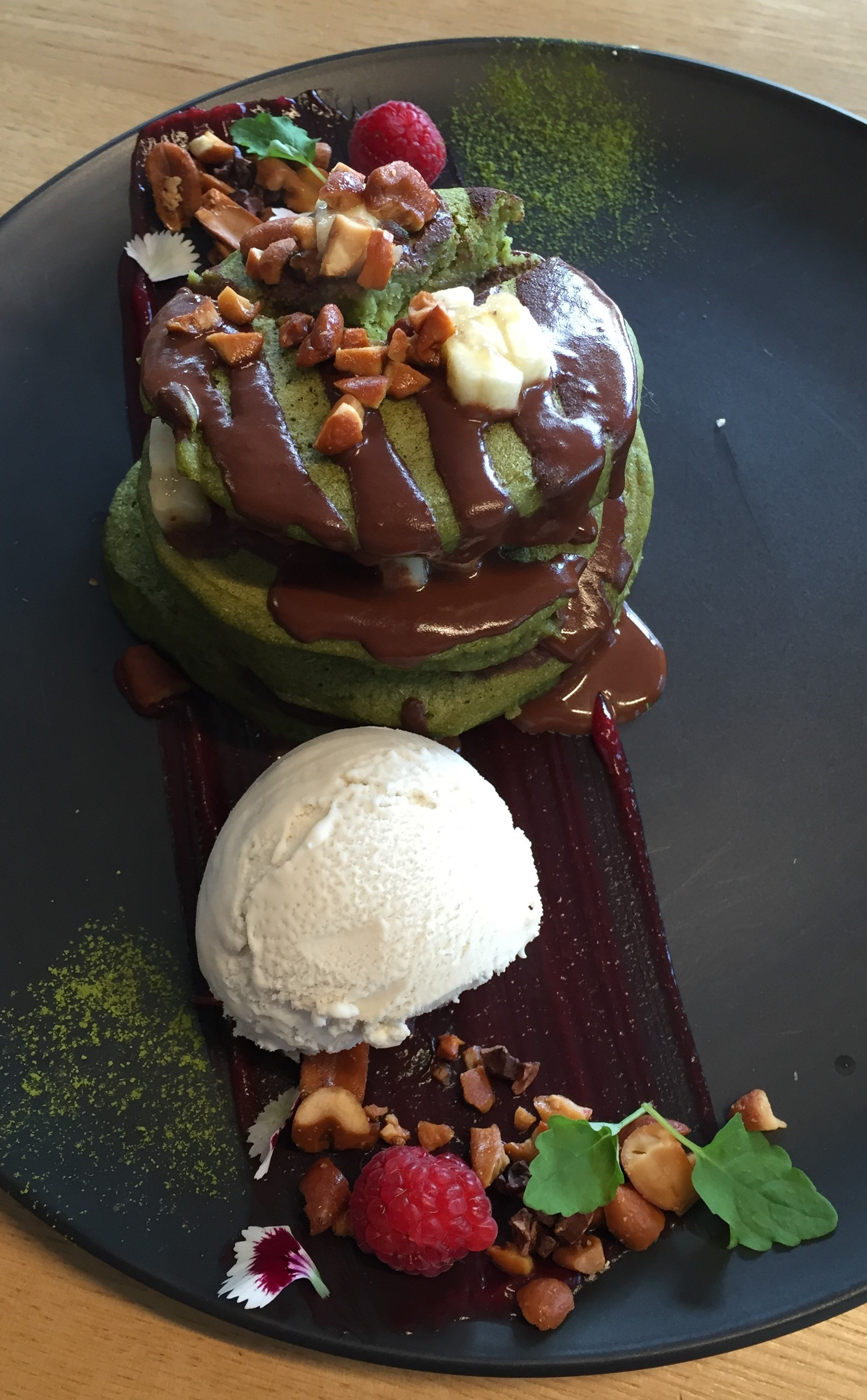 Yummy vegan dessert at Matcha Mylkbar, Melbourne.