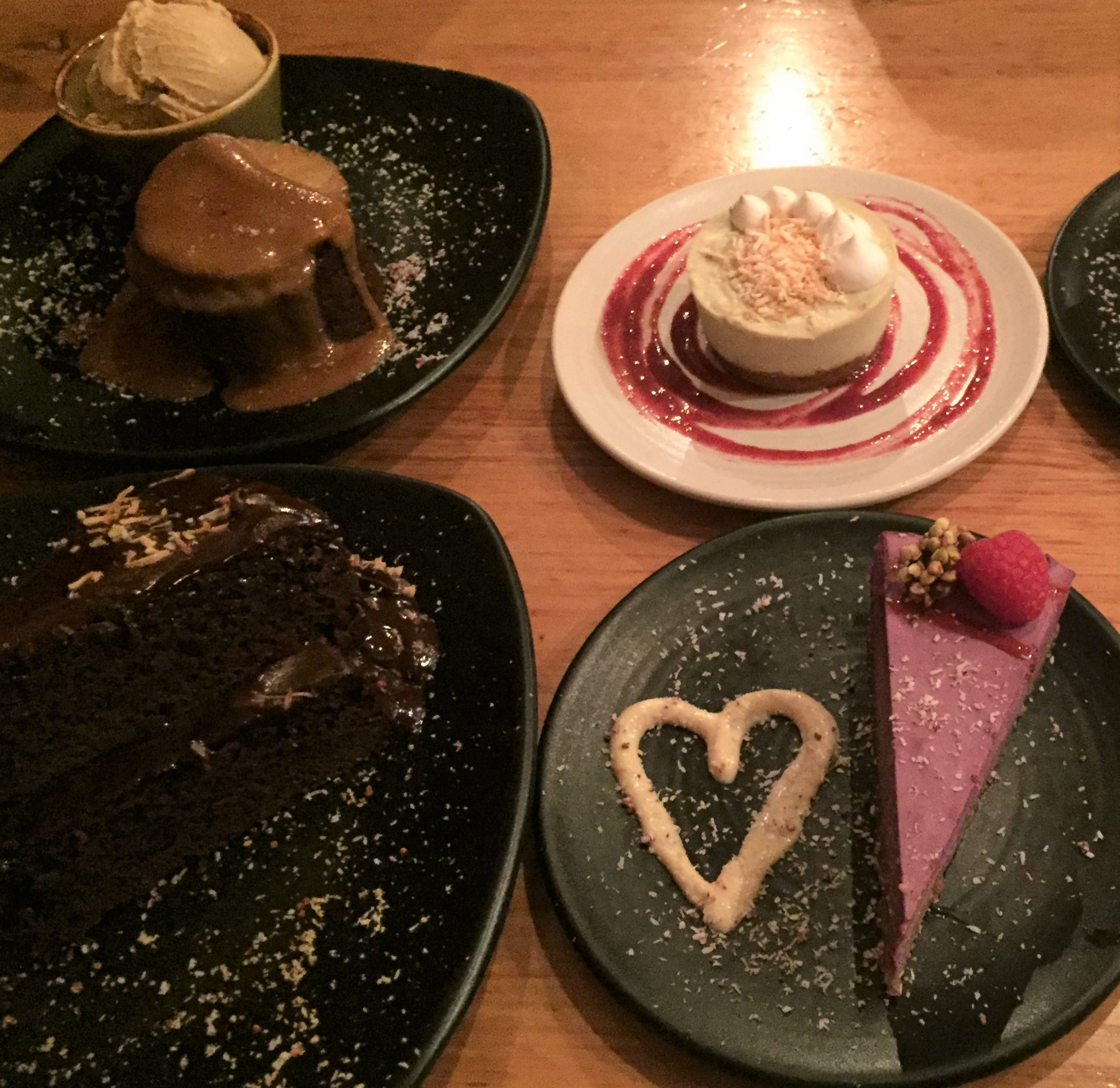 Amazing vegan desserts at Vegie Bar, Melbourne.