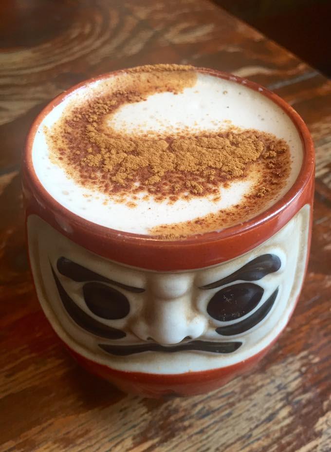 Fantastic vegan soy chai latte at Monk Cafe, Melbourne.