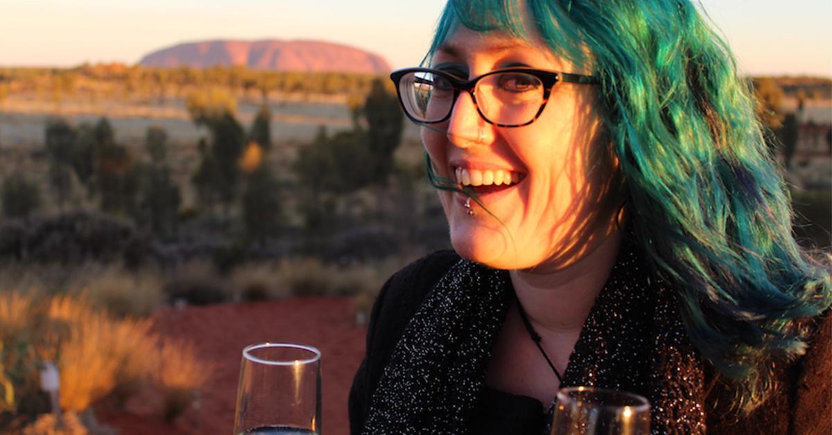 Woman standing at Uluru