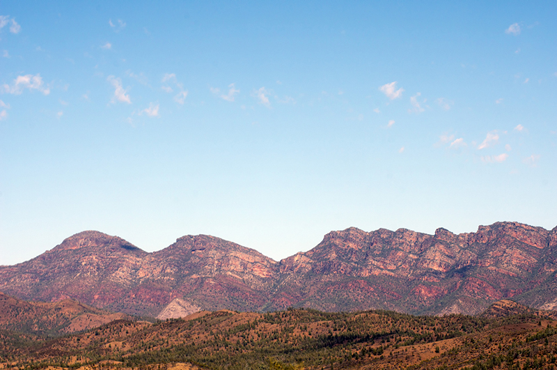 Views of the ranges, Ikara-Flinders' Ranges National Park, SA, Australia