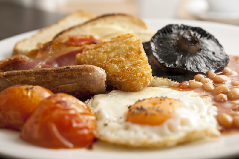 A Plate full of Full English Breakfast.