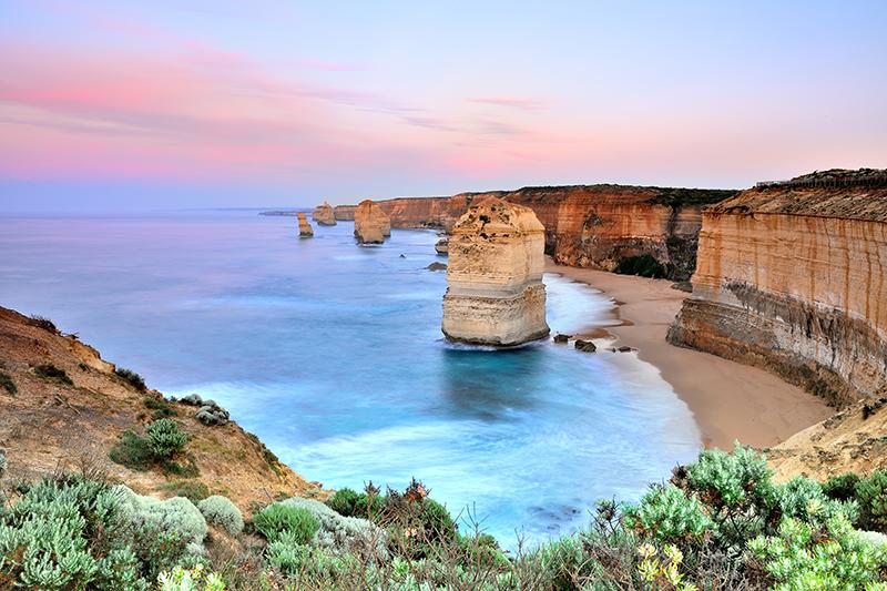 Great Ocean Road view of Twelves Apostles at sunrise