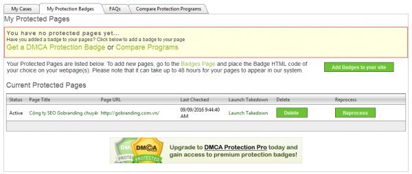 Xác định DMCA đã hiệu lực chưa