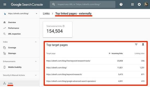 Bạn sẽ không phải chi trả đồng nào khi dùng Google search console để Check Backlink.