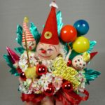 Primary Colors Birthday Clown Corsage