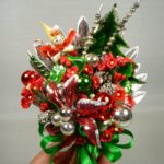 photo of vintage atomic christmas corsage