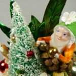 photo of vintage pine cone gnome corsage