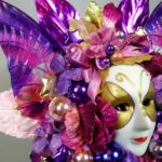 Mardi Gras Butterfly Mask Corsage