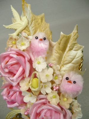 Pink Easter Chicks in Roses Corsage