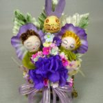Spun Cotton Garden Easter Corsage